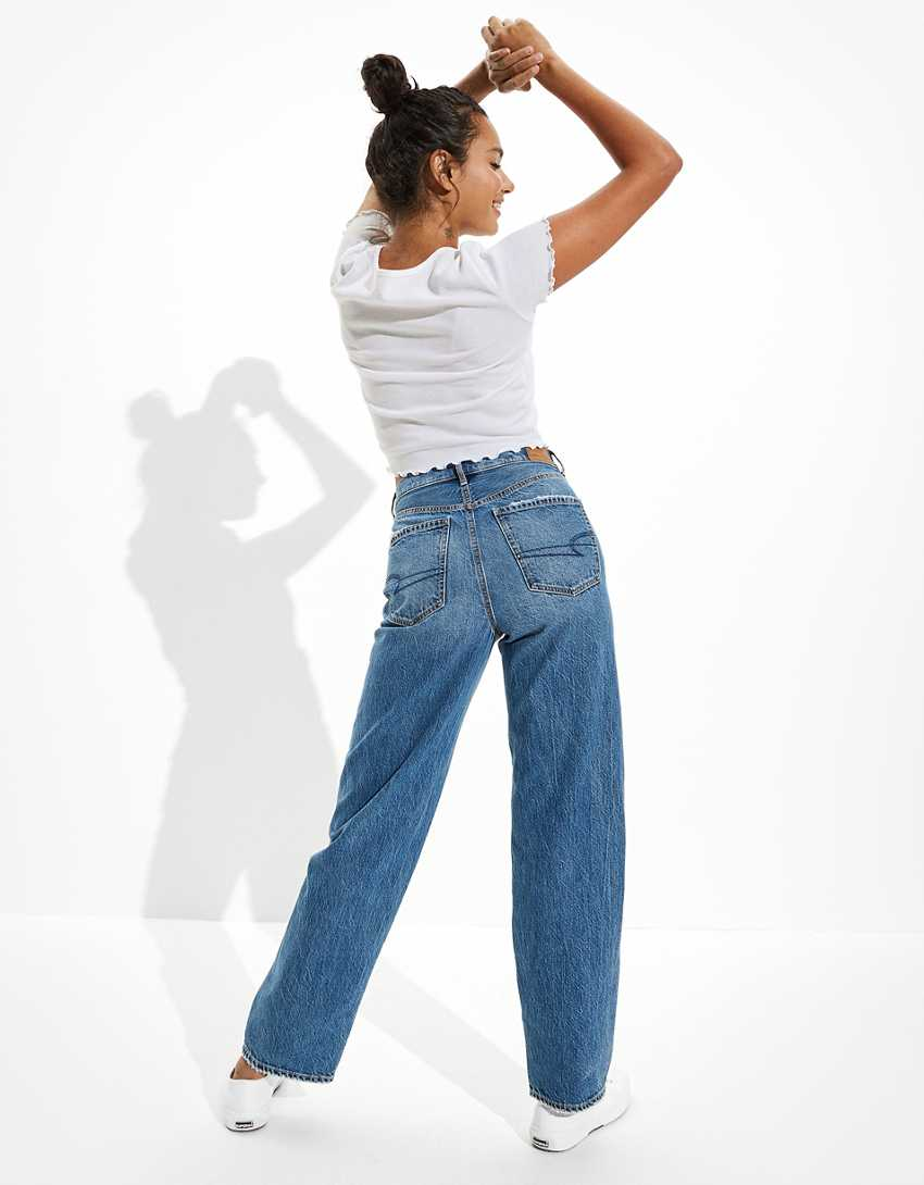 AE Crossover Baggy Mom Jean