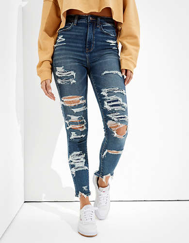 American Eagle AE Ne(x)t Level Ripped High-Waisted Jegging