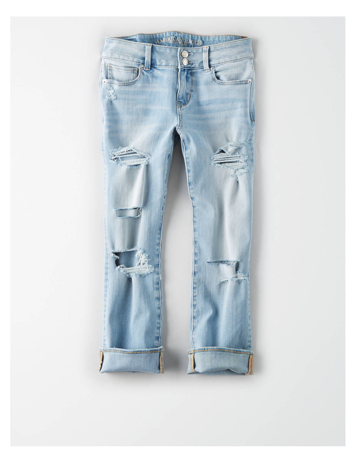 Display product reviews for AE Denim X4 Artist Crop Jean