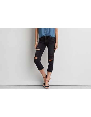 Denim cropped womens jeans
