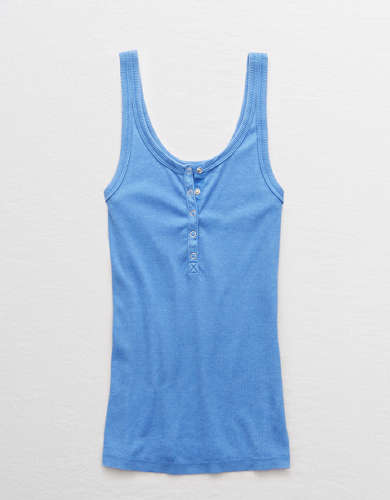 Aerie Snap Henley Saturday Tank