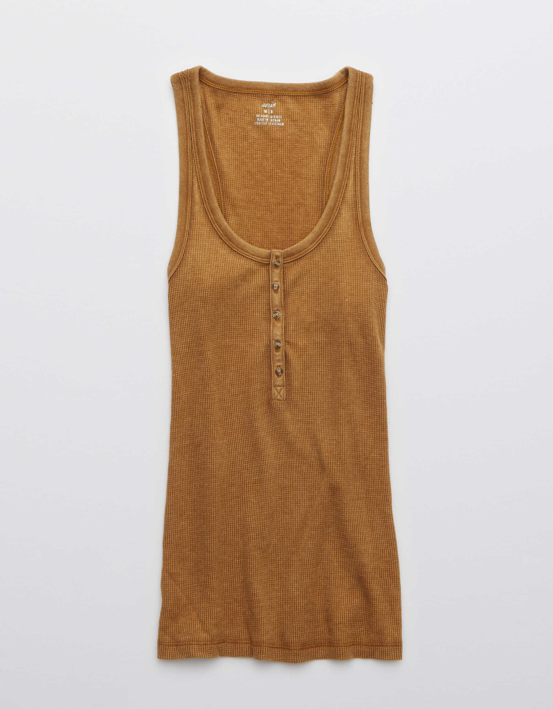 Aerie No BS Waffle Henley Tank Top