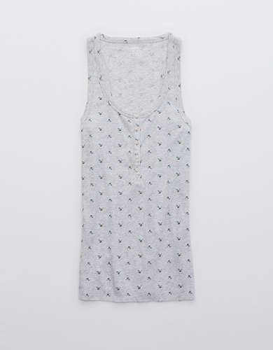 Aerie No BS Henley Tank Top