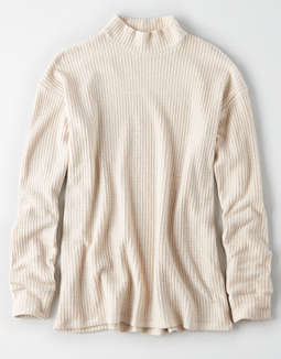 Ae Plush Mock Turtle Neck Top by American Eagle Outfitters