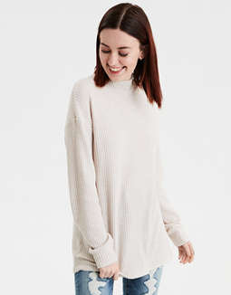 AE Plush Mock Turtle Neck Top