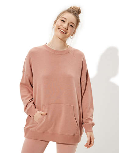 AE Fleece Pocket Crew Neck Sweatshirt