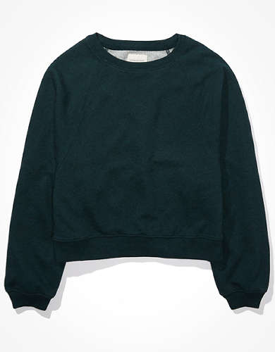 AE Fleece Cropped Crew Neck Sweatshirt