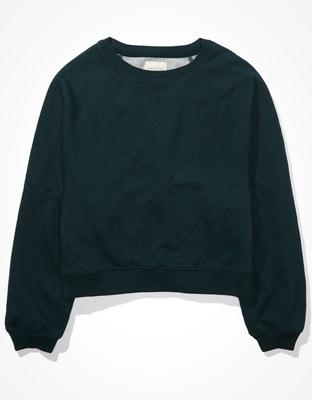AE 플리스 크롭 크루 넥 스웨트셔츠