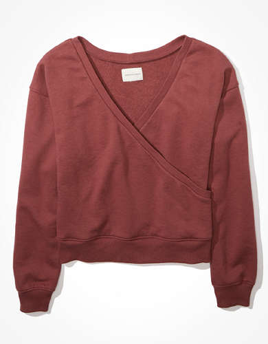 AE Fleece Wrap Front Sweatshirt