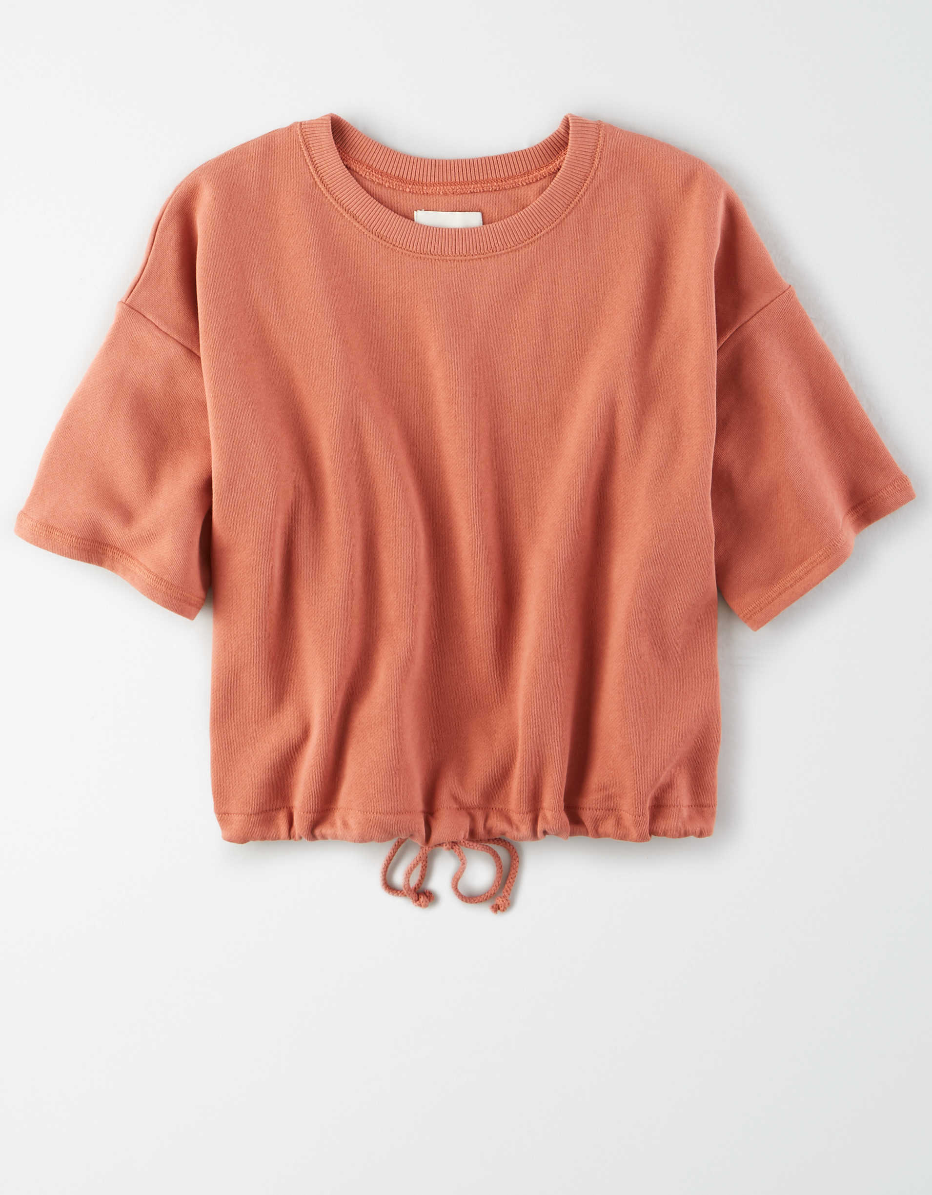 AE Fleece Short Sleeve Cinched Sweatshirt