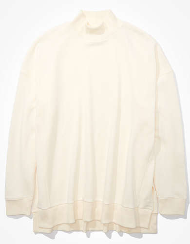 AE Fleece Oversized Mock Neck Sweatshirt