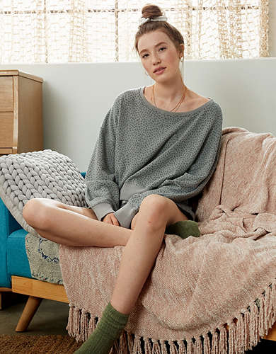 AE Fleece Off-The-Shoulder Sweatshirt