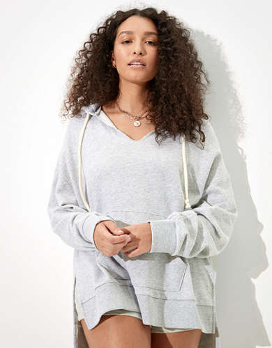 AE Fleece Notch Neck Hoodie