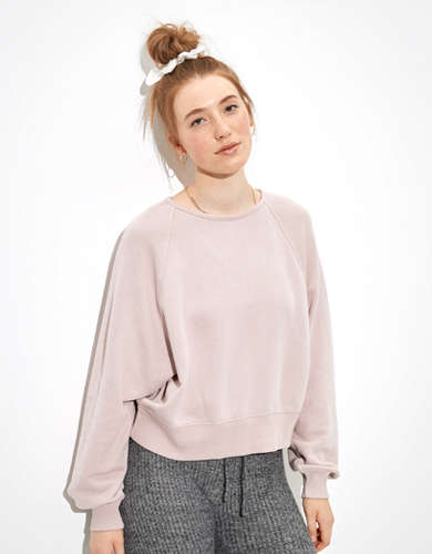AE Fleece Twist Back Crew Neck Sweatshirt