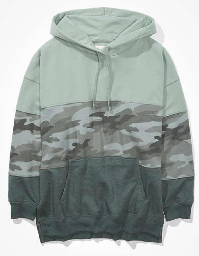 AE Fleece Oversized Side Slit Hoodie