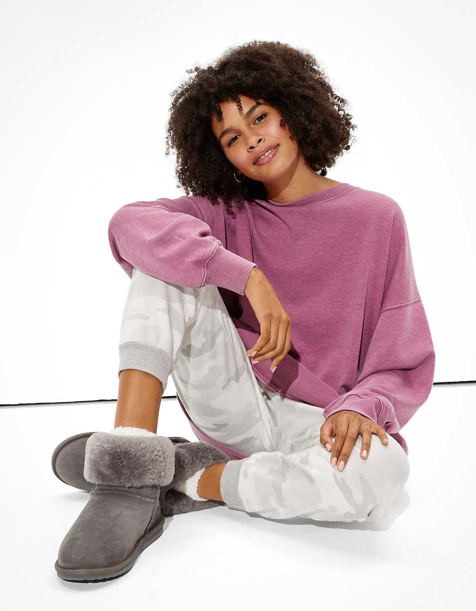 AE Oversized Fleece Crew Neck Sweatshirt