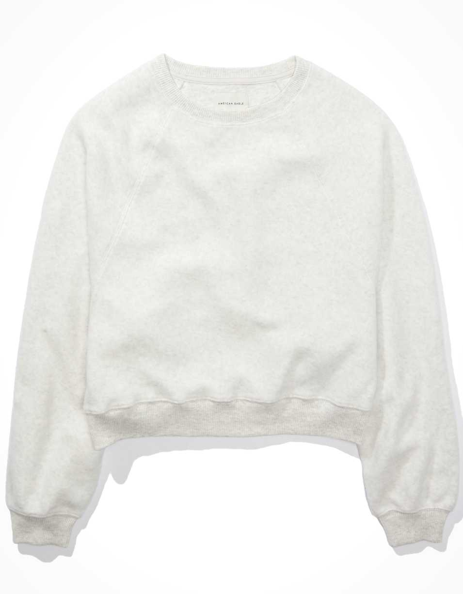AE Forever Reverse Fleece Crew Neck Sweatshirt | American Eagle