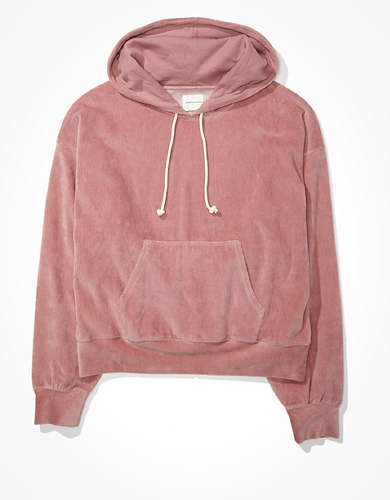 AE Fleece Velour Ribbed Hoodie