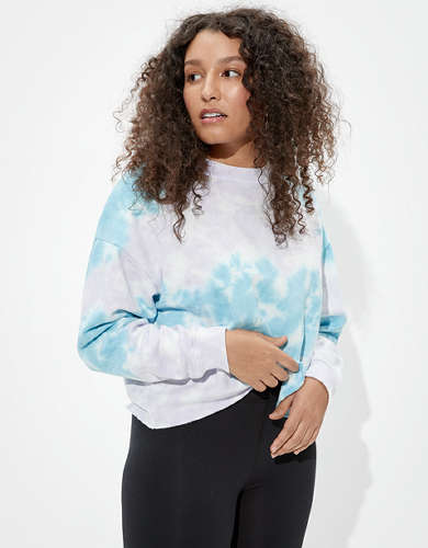 AE Forever Cropped Crew Neck Sweatshirt