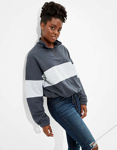 AE Forever Cinched Zip Up Sweatshirt