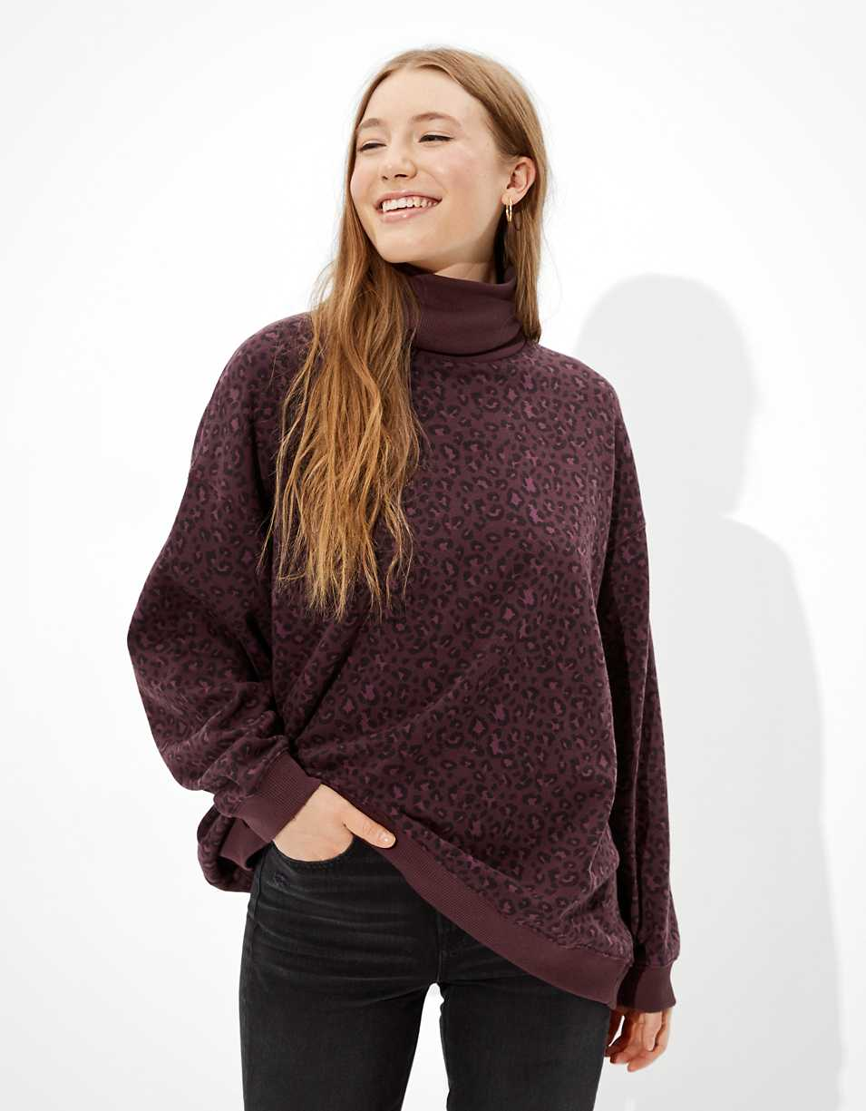 AE Forever Oversized Turtleneck Sweatshirt