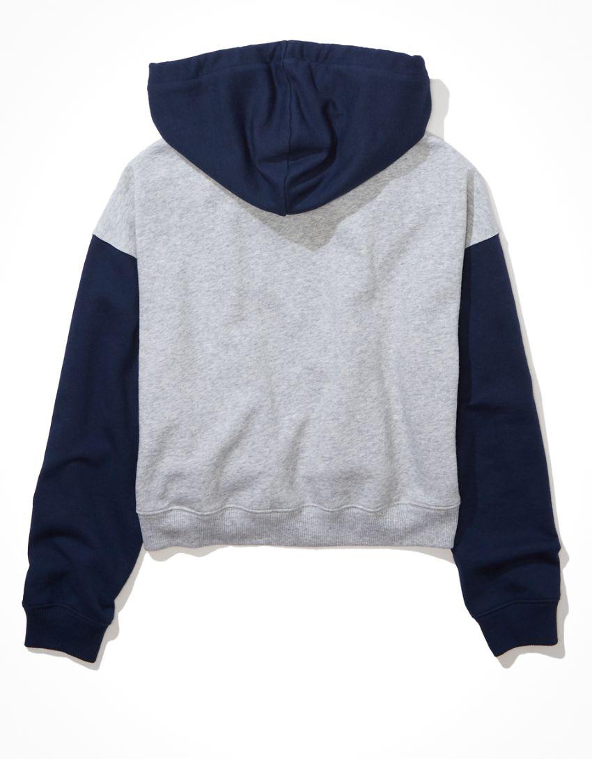 AE Fleece Cropped Zip-Up Hoodie