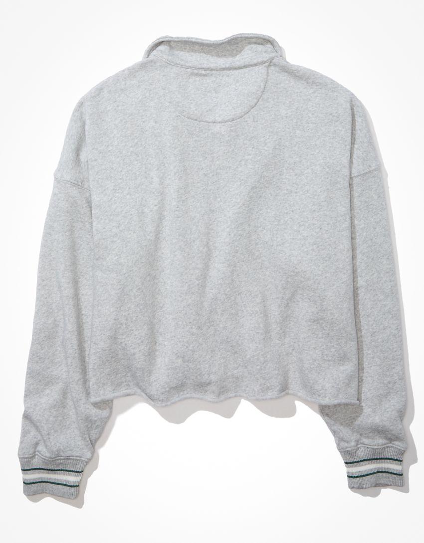AE Fleece Oversized Quarter Zip-Up Sweatshirt