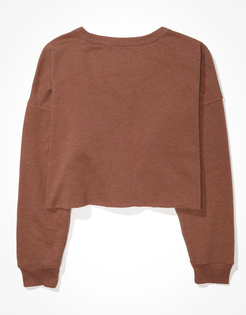 AE Fleece Cropped Crew Neck Sweatshirt