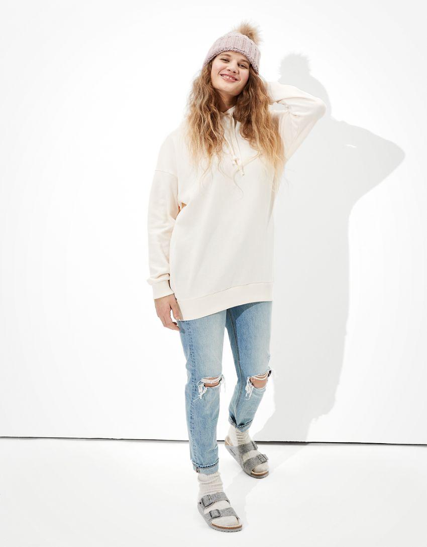 AE Fleece Tunic Hooded Sweatshirt