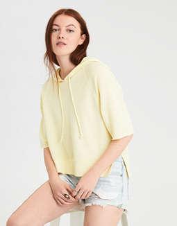 Ae Short Sleeve Hoodie Sweatshirt by American Eagle Outfitters