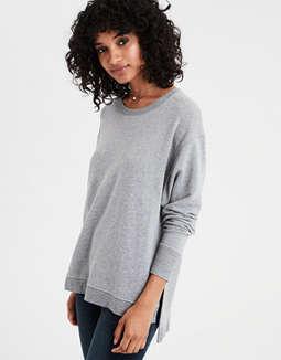 Ae Split Hem Drop Shoulder Sweatshirt by American Eagle Outfitters
