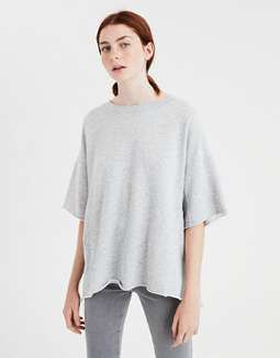 Ae Oversized Raw Edge Sweatshirt by American Eagle Outfitters
