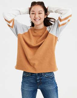 2f23417ac4d59 Shoptagr | Ae Ahh Mazingly Soft Colorblock Crew Neck Sweatshirt by ...
