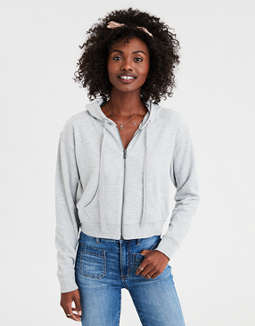 AE Cropped Zip-Up Hoodie