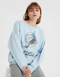 AE NASA Graphic Crew Neck Sweatshirt