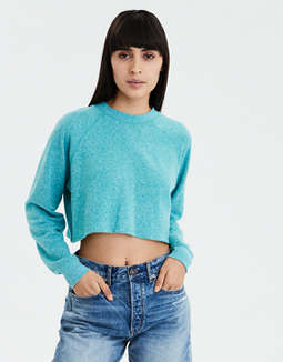 AE Cropped Crew Neck Sweatshirt