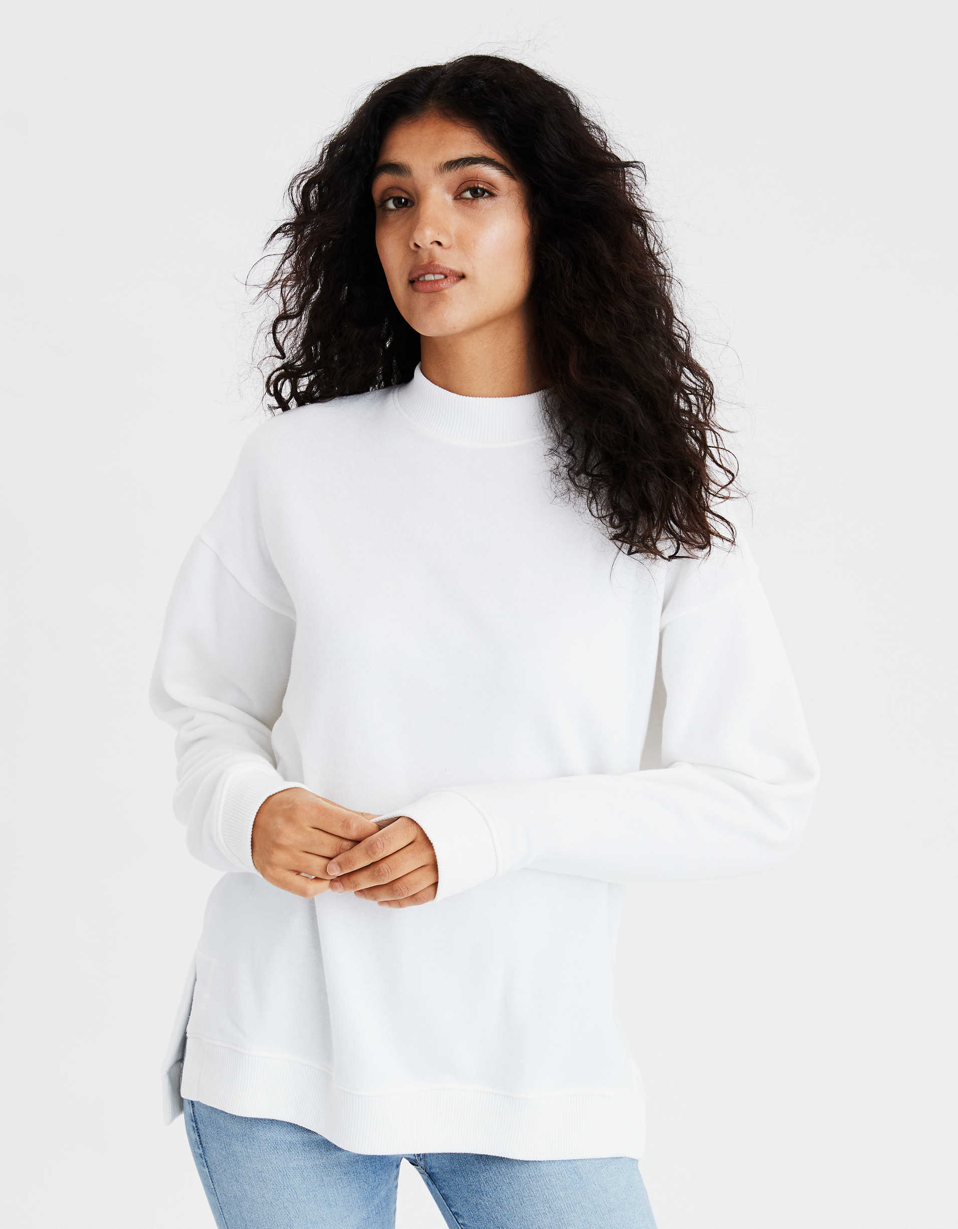 AE Oversized Side Slit Sweatshirt