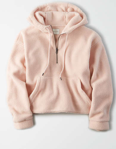 AE Polar Fleece Cropped Quarter Zip Hoodie