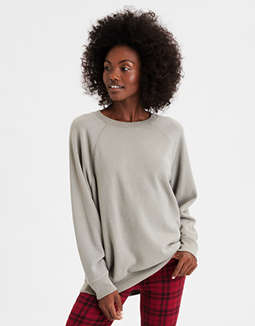 AE Oversized Fleece Pullover Sweatshirt