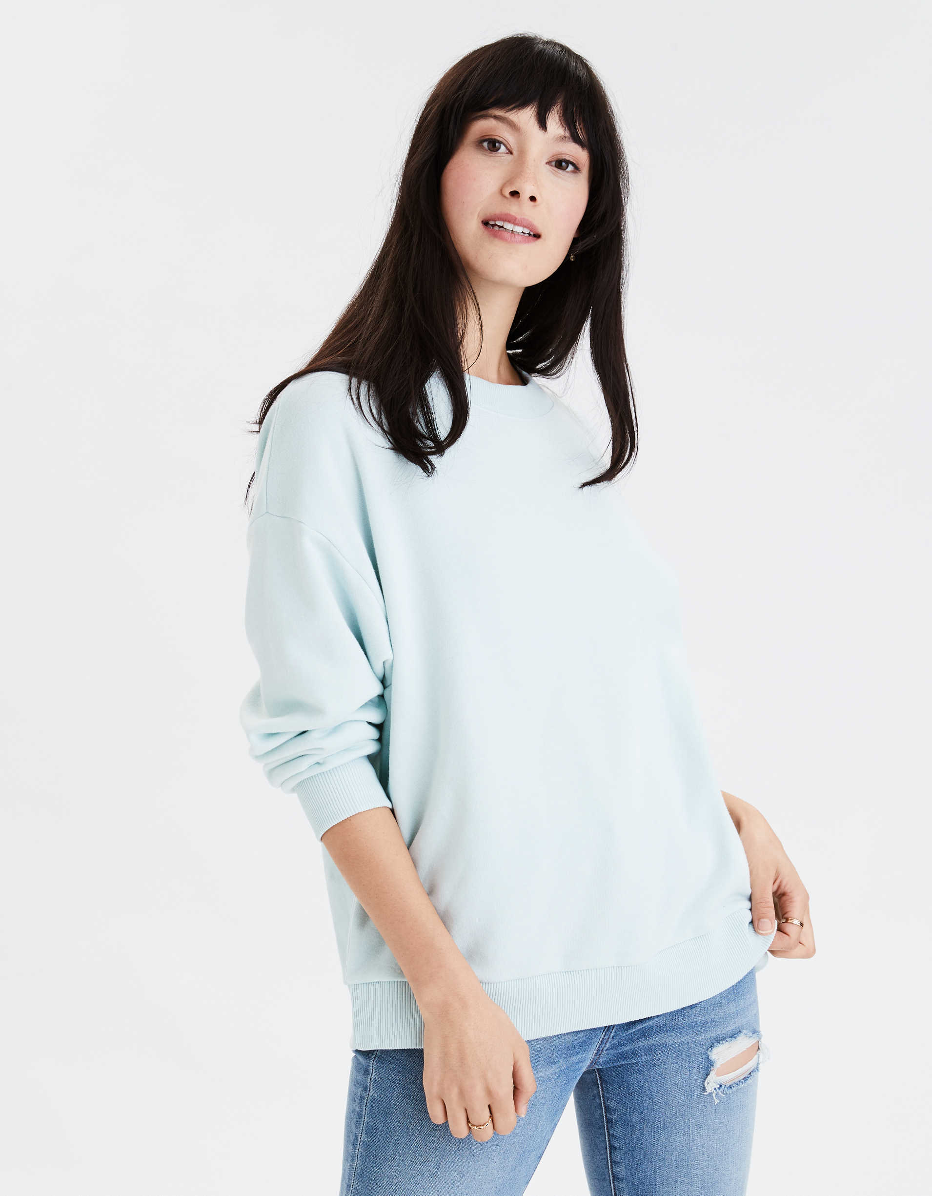 AE Fleece Crew Neck Oversized Sweatshirt