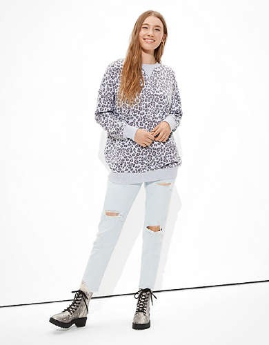 AE Fleece Oversized Tunic Sweatshirt