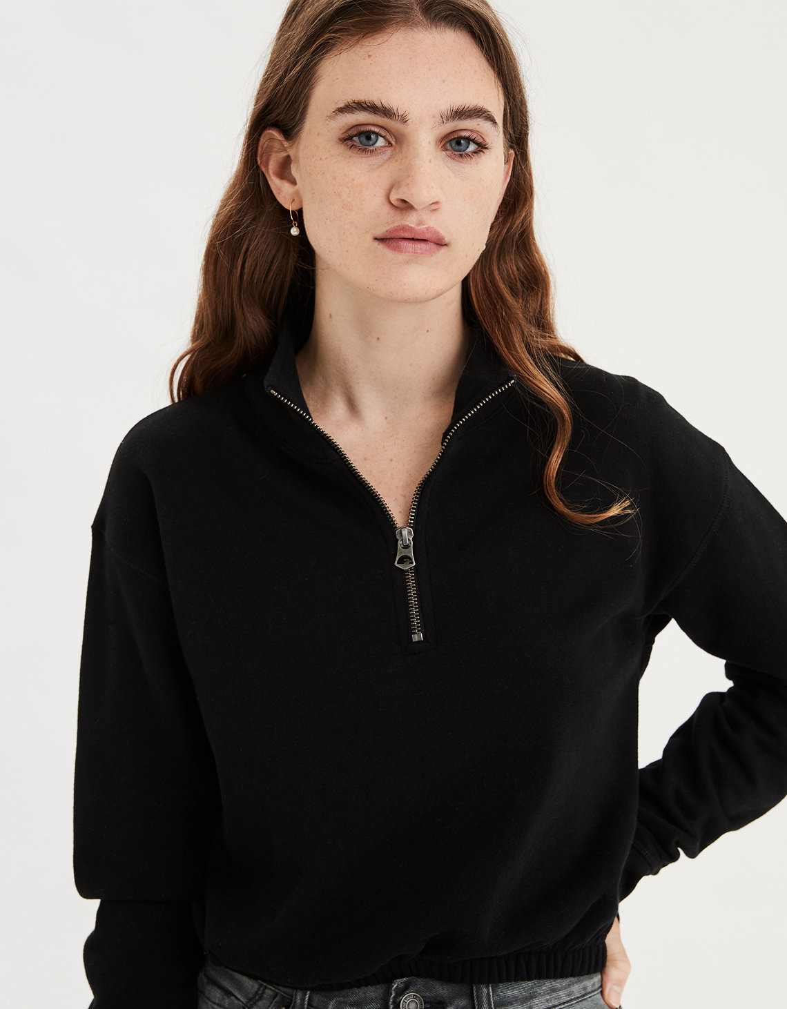 AE Half Zip Cropped Fleece