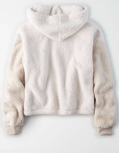 AE Sherpa Mix Quarter Zip Sweatshirt