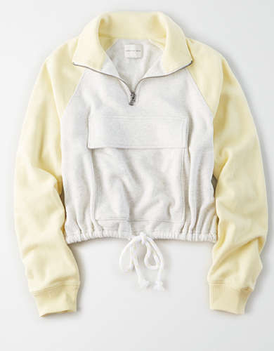 AE Fleece Cropped Quarter Zip Sweatshirt