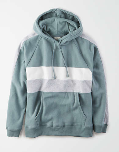 AE Fleece Color Block Hoodie