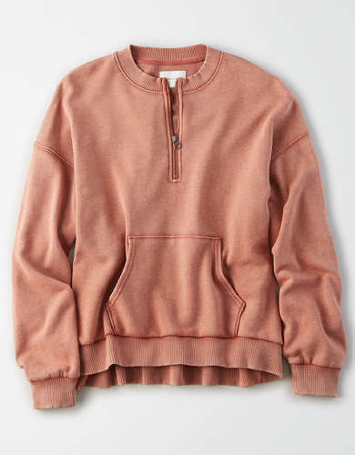 AE Fleece Half Zip Up Sweatshirt