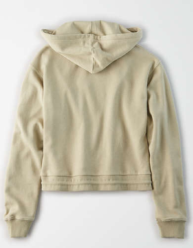 AE Fleece Cinched Waist Cropped Hoodie