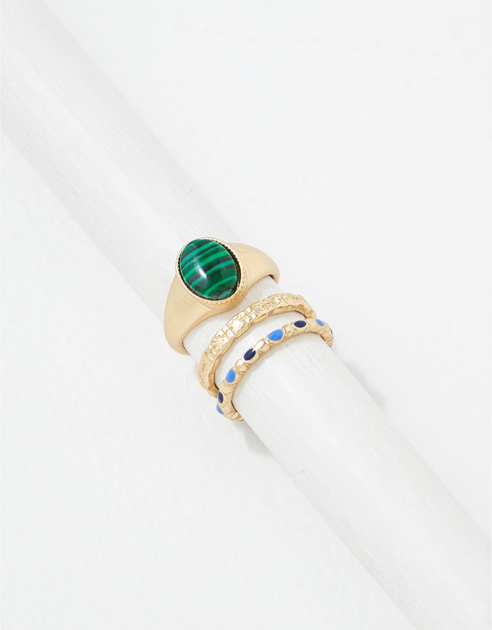 AEO Stone Rings 3-Pack