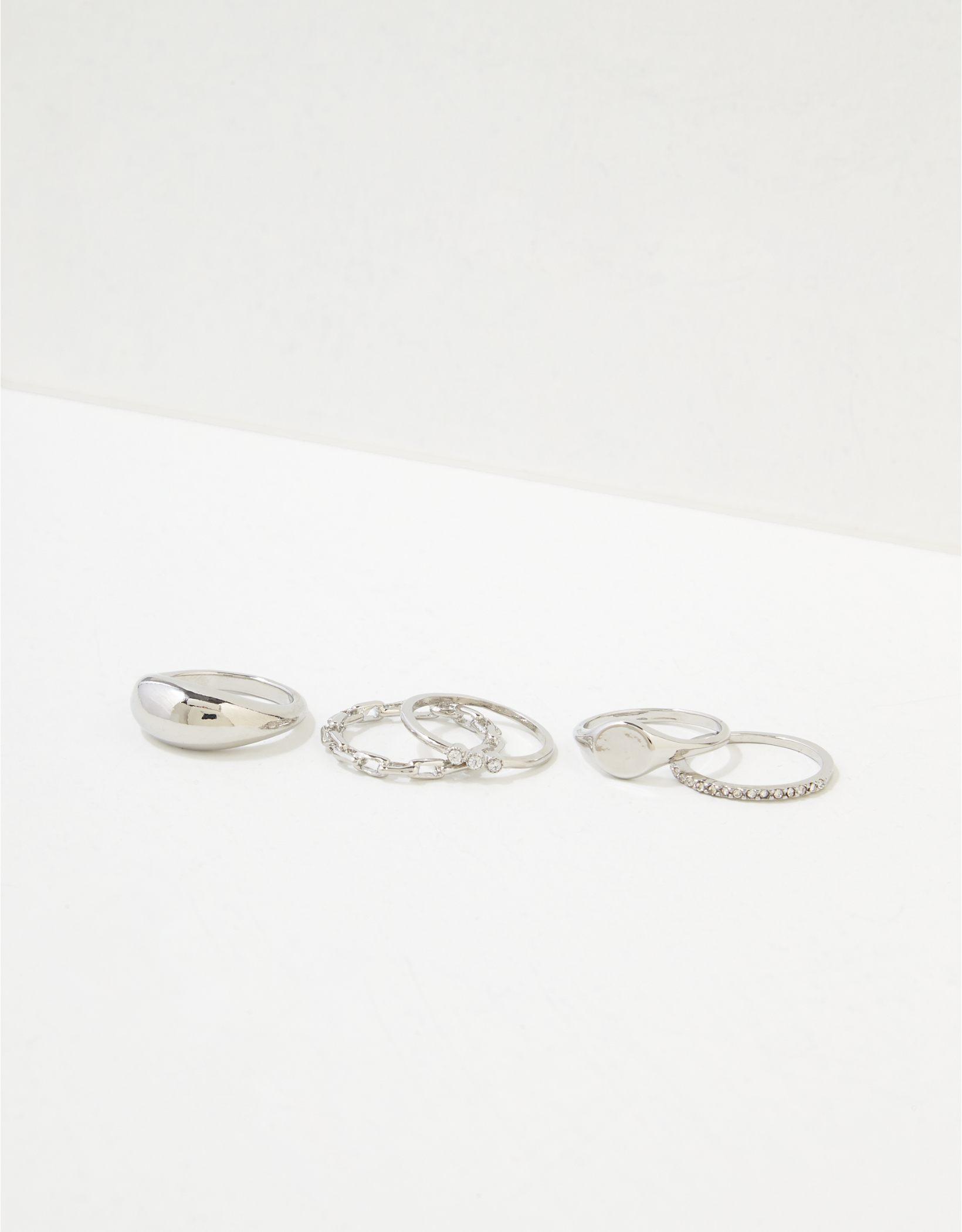 AEO Silver Rings 5-Pack