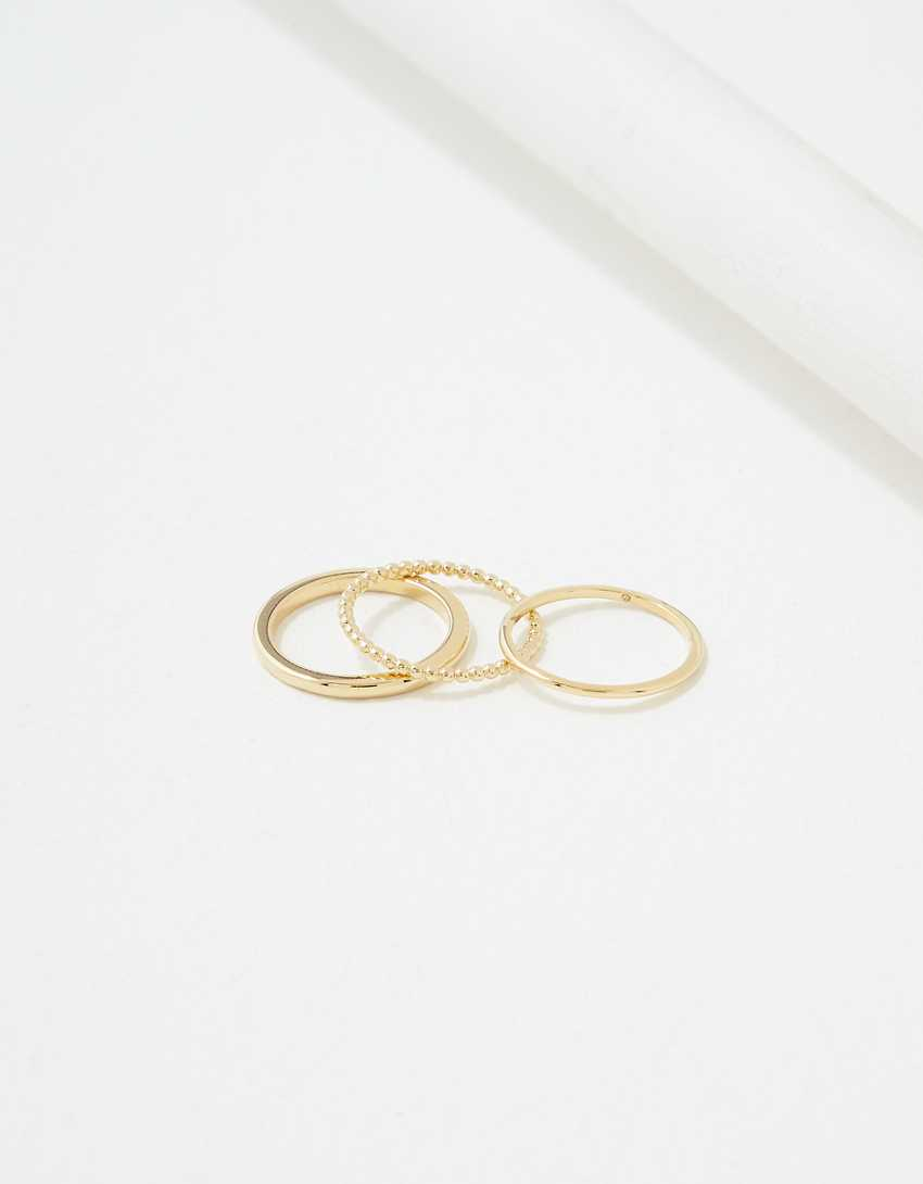 AE Demi-Fine 14K Gold Simple Ring 3-Pack